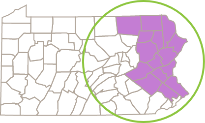 PA State map of locations