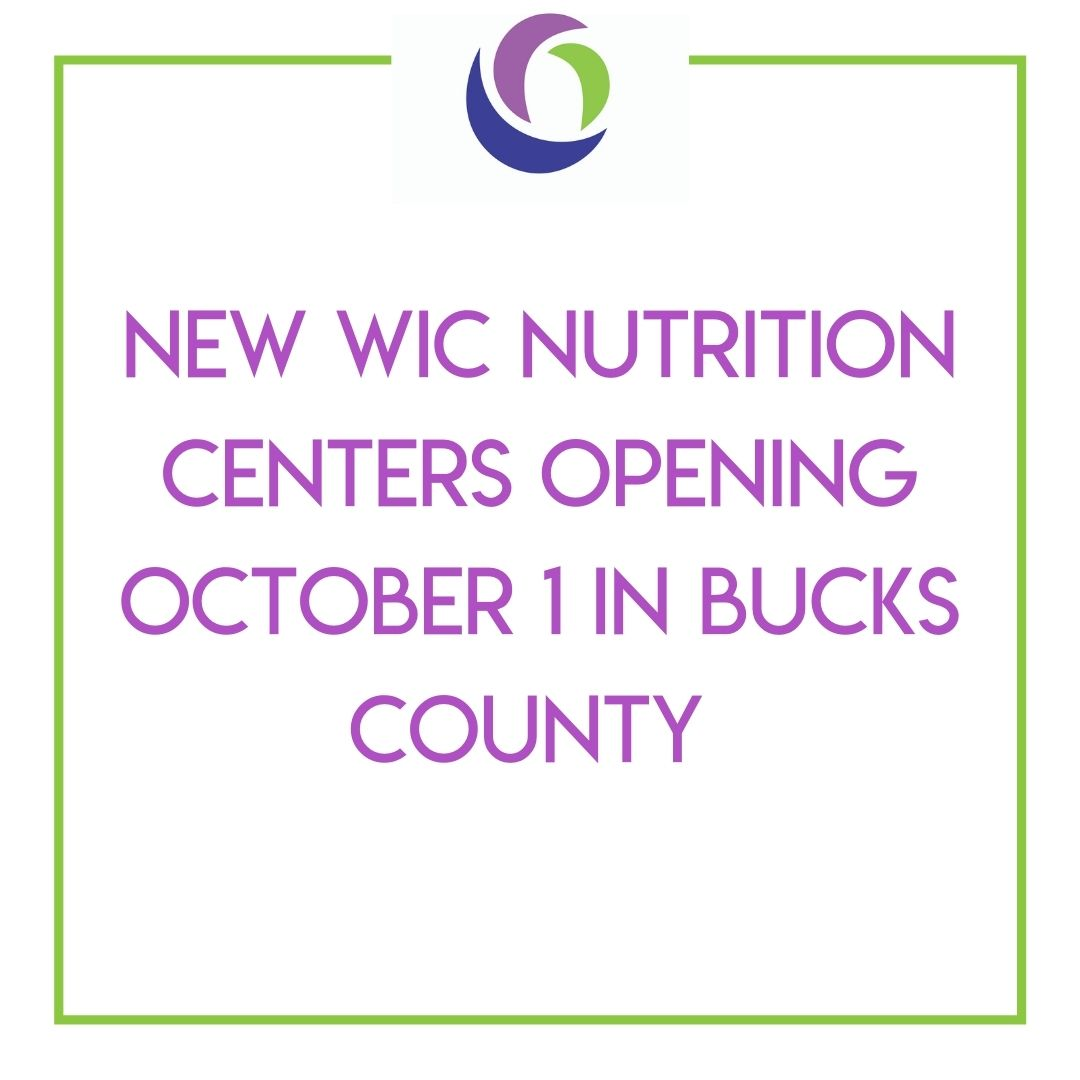Maternal and Family Health Services is the New WIC Nutrition Program Provider in Bucks County Starting October 1st Featured Image